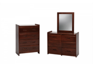 Heartland Dark Finish 4 Drawer Chest